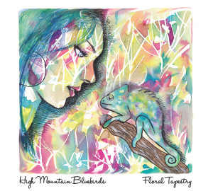 High Mountain Bluebirds - Floral Tapestry